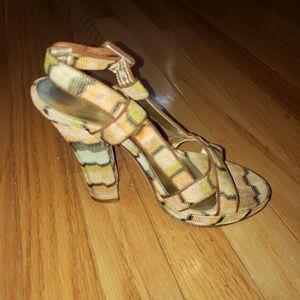 Missoni Shoes - Missoni zig zag peep toe pumps